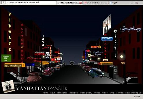 Jazz street photo from Manhattan Transfer webpage