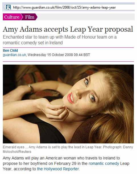 IMAGE- Amy Adams 'Leap Year' story