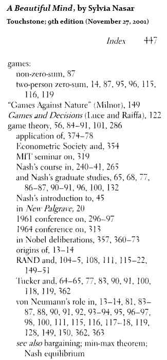 IMAGE- 'A Beautiful Mind' on games (from index)