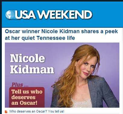 IMAGE- Nicole Kidman in a Sunday supplement