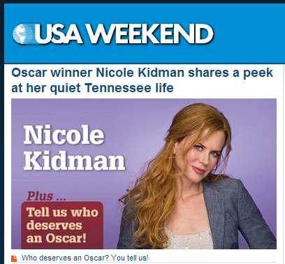 IMAGE- Nicole Kidman in a Sunday supplement