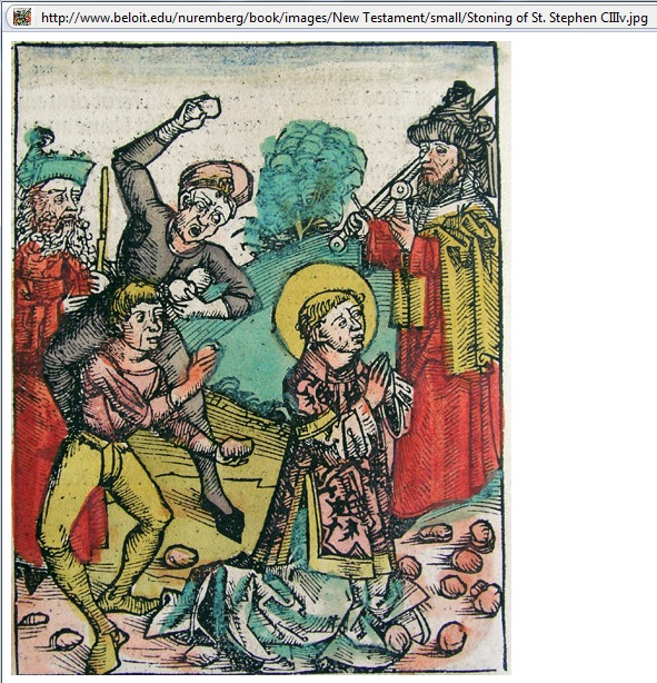 Beloit College Nuremberg Chronicle. commemorated on December 26th.