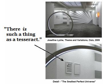 IMAGE- 'There IS such a thing as a tesseract.'
