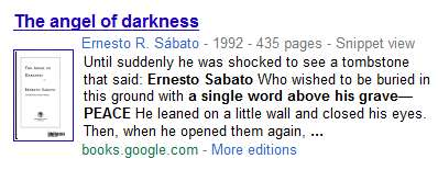 IMAGE- Sabato on his own tombstone in 'Angel of Darkness'