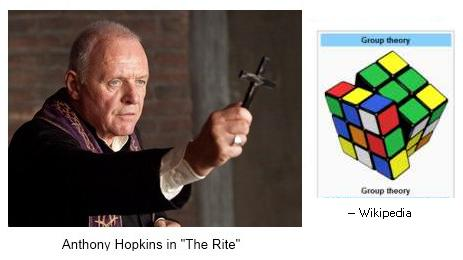 IMAGE- Anthony Hopkins exorcises a Rubik cube