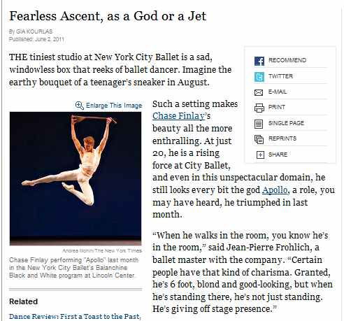 IMAGE- 'Fearless Ascent, as a God or a Jet' -NYT