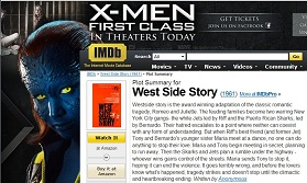 IMAGE- IMDb screenshot combining 'X-Men: First Class' and 'West Side Story'