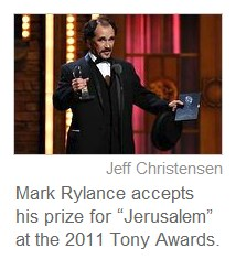 IMAGE- 'Walking Through Walls' speech at Tony Awards 2011 by winner for 'Jerusalem'