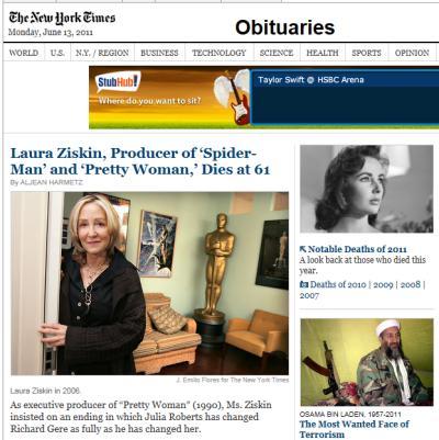 IMAGE- Oscars producer dies.