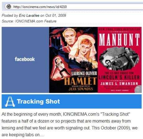 IMAGE- Cinema column dated Oct. 1, 2009