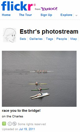IMAGE- From Esther Dyson- Boats on the Charles- 'Race you to the bridge!'