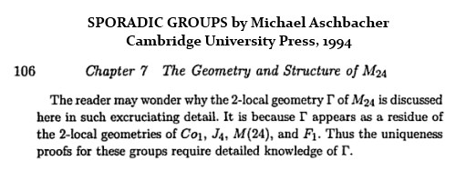IMAGE- Aschbacher on the 2-local geometry of M24