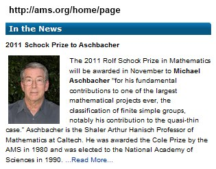 IMAGE- AMS News Aug. 25, 2011- Aschbacher to receive Schock prize