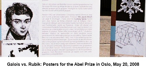 IMAGE- Galois vs. Rubik: Posters for Abel Prize, Oslo, 2008