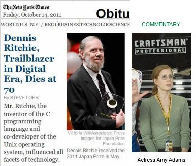 IMAGE- Dennis Ritchie, Amy Adams, and the Inferno operating system