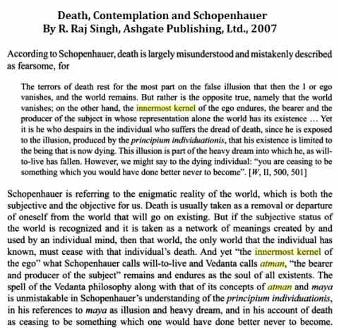 IMAGE- Schopenhauer, 'innermost kernel,' and atman