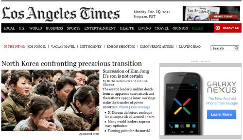 IMAGE- LA Times on Korean transition and Galaxy Nexus