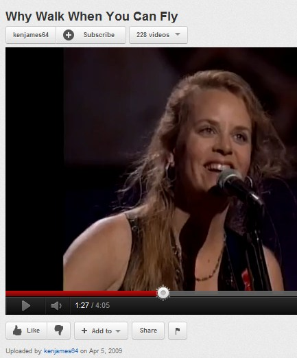 Mary Chapin Carpenter, 'Why Walk When You Can Fly?'