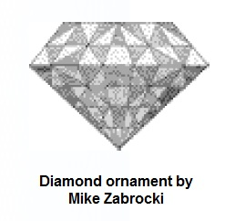 IMAGE- Diamond ornament from slides by Mike Zabrocki
