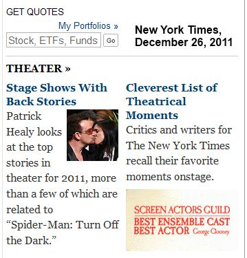 Bono and Taymor at 'Spider-Man'