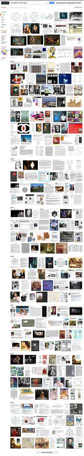 IMAGE- Tall column of images from Log24, headed by permutahedron pictures