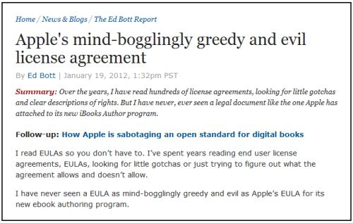 IMAGE- 'Apple's Mind-Bogglingly Greedy and Evil License Agreement'