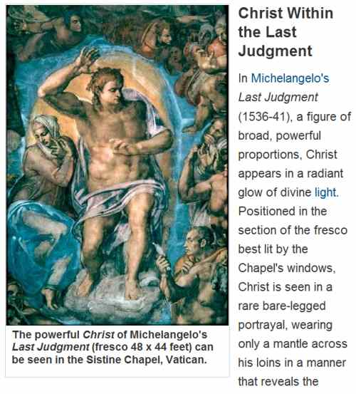 IMAGE- Christ in the Last Judgment, from 'How Stuff Works'