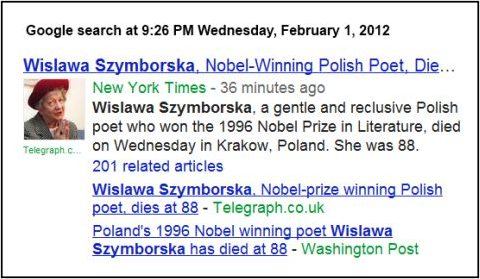 IMAGE- Nobel-Prize-winning poet dies on St. Bridget's Day, 2012