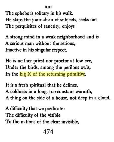 IMAGE- Wallace Stevens, Collected Poems, page 474- 'An Ordinary Evening in New Haven,' Canto XIII