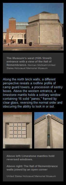 IMAGE- Holocaust Museum, architectural details