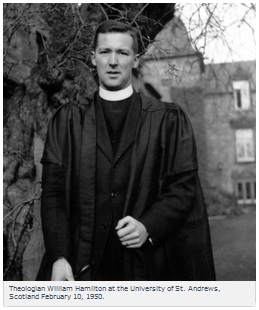 IMAGE- Theologian William Hamilton at the University of St. Andrews, Scotland, February 10, 1950