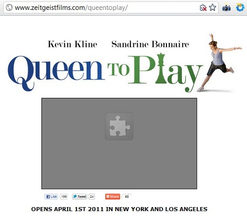 IMAGE- 'Puzzle Piece' symbol on 'Queen to Play' page
