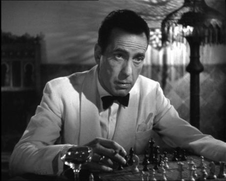 IMAGE- Bogart in 'Casablanca' with chessboard