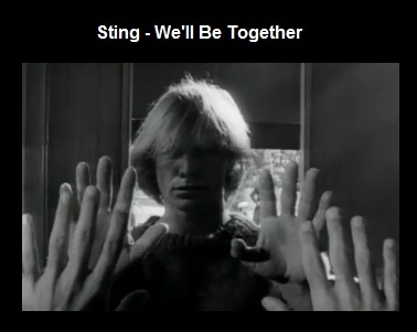 IMAGE- Sting meets his own reflection in a mirror in 'We'll Be Together' video