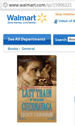 IMAGE- 'Last Train from Cuernavaca' paperback from webpage at Walmart