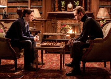 IMAGE- James McAvoy (left) and Michael Fassbender in 'X-Men: First Class'