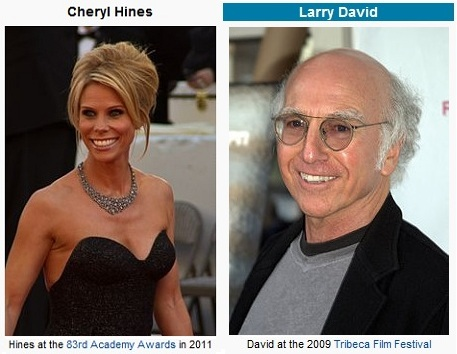IMAGE- Actors from 'Curb Your Enthusiasm' representing Cleavage and Finality