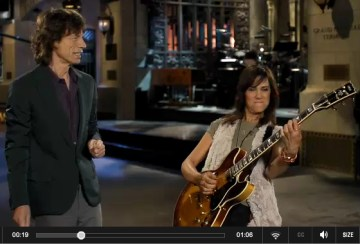 IMAGE- Mick Jagger and Kristen Wiig, SNL promo