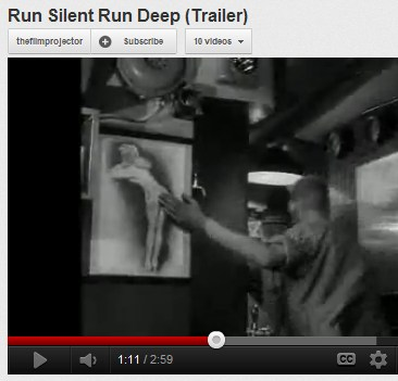 IMAGE- Sailor pats pinup in 'Run Silent, Run Deep'