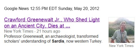 IMAGE- Obit for archaeologist, an expert on Sardis