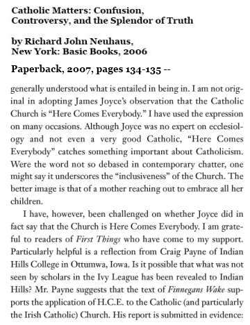 IMAGE- Richard John Neuhaus on confusion, the Church, and James Joyce