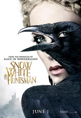 IMAGE- Charlize Theron as Ravenna with raven in poster for 'Snow White and the Huntsman'