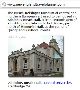 IMAGE- Adolphus Busch Hall, 29 Kirkland St., Cambridge, MA