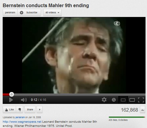 IMAGE- 'Bernstein conducts Mahler 9th ending'