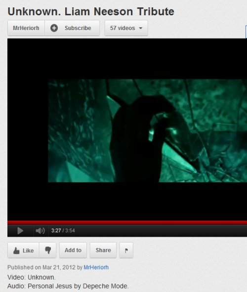 IMAGE- Video, 'Unknown. Liam Neeson Tribute,' 3:27 of 3:54, Hand with Shard