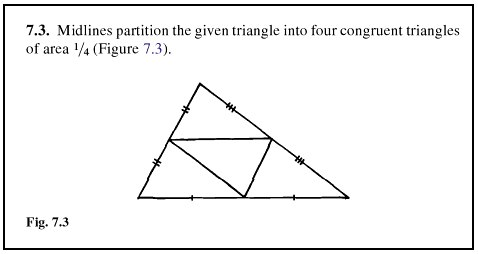 IMAGE- Triangle cut into four congruent subtriangles