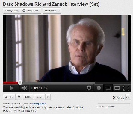 IMAGE- Richard D. Zanuck interview on 'Dark Shadows' film of director Tim Burton