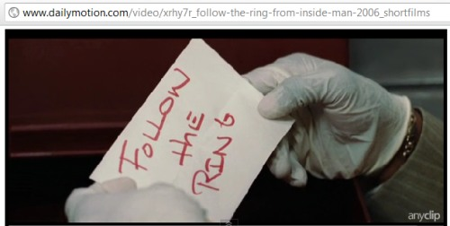 IMAGE- 'Follow the Ring' note from the film 'Inside Man'