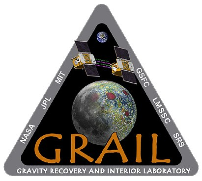 IMAGE- Triangular logo of the NASA Gravity Recovery and Interior Laboratory