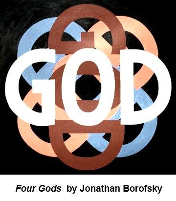 IMAGE- 'Four Gods,' by Jonathan Borofsky